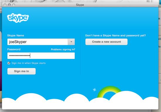 Skype-sign-in
