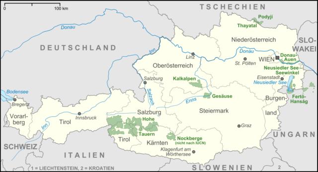 austrija-karta